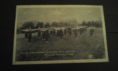 Carmarthenshire,Llanelly,Girls Intermediate school,PT Class,posted 1923.