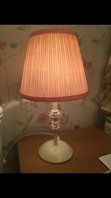 Pink Girls Bedside Light - Table Lamp - NEXT ~ Immaculate