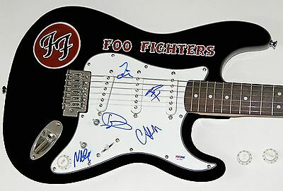 FOO FIGHTERS Dave Grohl Autograph Signed Guitar Complete Band PSA DNA STUNNING!