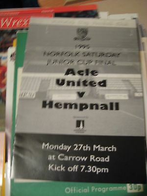 1995 Norfolk Saturday Junior Cup Final Acle United v Hempnall @ NOrwich CIty