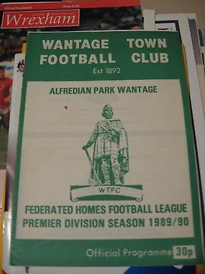 1989-90 Wantage Town v Newport AFC Federated Homes League cup Quarter final