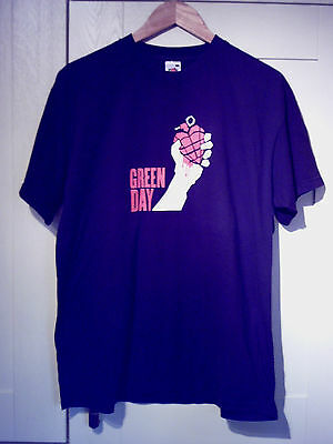 "Green Day - Vintage ""american Idiot European Tour 2005"" Black T-Shirt (L)"