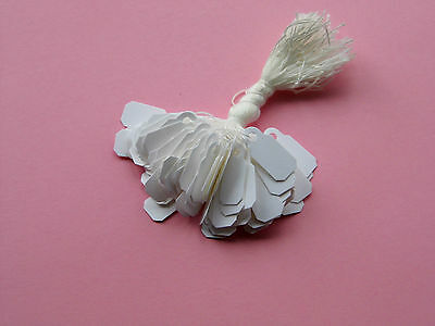 100 Small White Price Gift Jewellery Tags