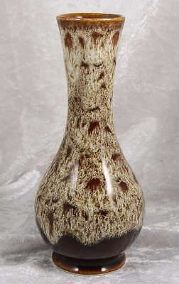 Fosters Cornwall Pottery brown design 6 inches tall small vase collectable