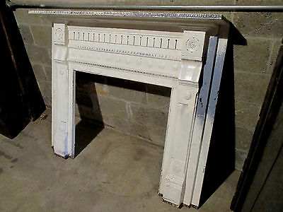 ~Antique Carved Walnut Fireplace Mantel 56 X 47 2 Of 2 ~ Architectural Salvage ~