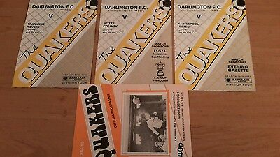 4 - Darlington Programmes from 1980's