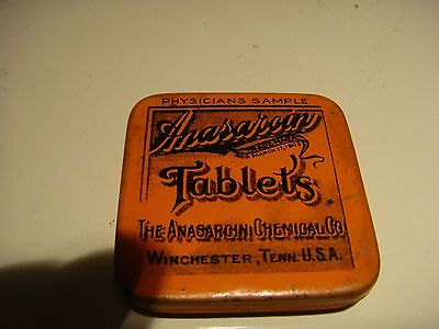 Antique collectable tin. The Anarsarcin Chemical Company