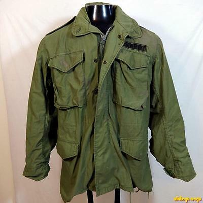 1990s USA Vintage M-65 US Army FIELD JACKET Coat Mens S Small military vintage