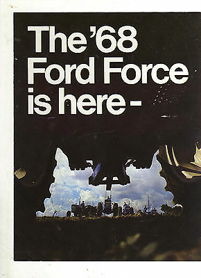 FORD FORCE TRACTOR BROCHURE 1000 SERIES RANGE LEAFLET CLASSIC 60s FARM MODELS