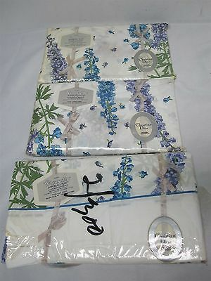 3 Vintage Wamsutta Christian Dior Delphinium Twin Fitted & Flat Sheets Mint!