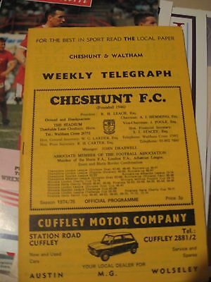 1975 Athenian League Challenge Cup Final Cheshunt v Redhill 10.5.1975