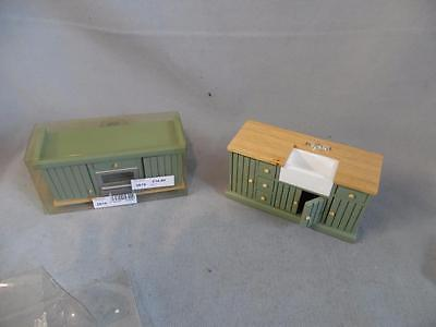 Doll's House Emporium Green Sink Unit 6794 & Oven and Hob 2619 **BNIB**