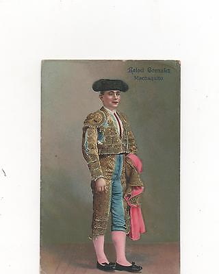Rafael Gonzalez,Famous Spanish Matador in Traditional Dress,PPC (1913)