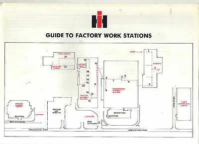 INTERNATIONAL TRACTOR BROCHURE DONCASTER PLANT FACTORY GUIDE 80s LAYOUT