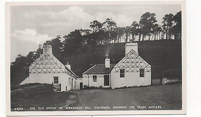 The Old Smithy of Berriedale Hill,Caithness,RPPC,(J.B White Ltd)