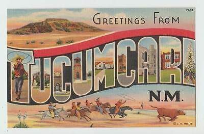 Greetings From Tucumcari New Mexico vintage postcard  6907