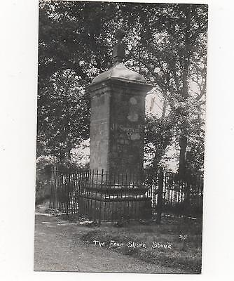 The Four Shire Stone,Gloucestershire,RPPC