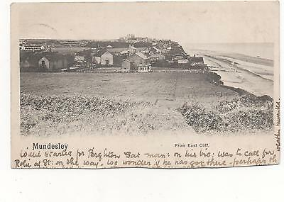 Mundesley,From East Cliff,Norfolk  RPPC A/F