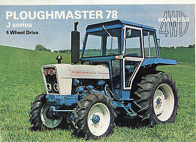 ROADLESS PLOUGHMASTER 78 TRACTOR SALES LEAFLET 70s FORD CONVERSION BROCHURE