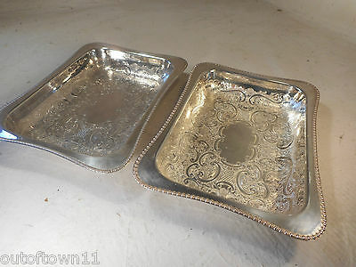 2 Silver Plate Dishes   ref 2339