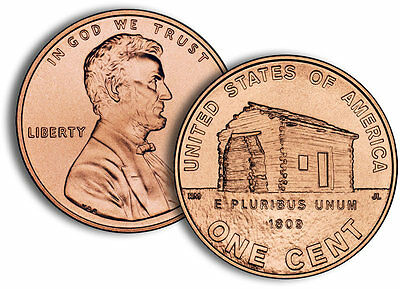 2009 Lincoln Cent  Early Years  cent Denver Philadelphia Log Cabin 2 coins