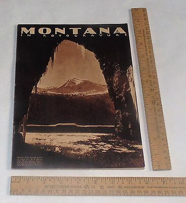MONTANA in ROTOGRAVURE - copyright 1930 - illustrated BOOKLET