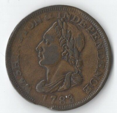 1783 Washington & Independence Unity States W/ Clip Colonial - Free Shipping