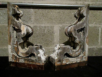 ~ Pair Of Ornate Victorian Antique Corbels ~ 16 Tall ~ Architectural Salvage