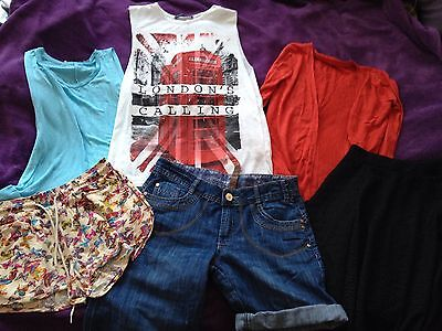 Clothes Bundle Ladies Size 8 / Small Tops  skirt 6 items