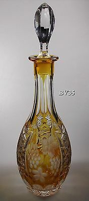"Nachtmann Traube Cordial Decanter  12 1/2""- Amber - Perfect"