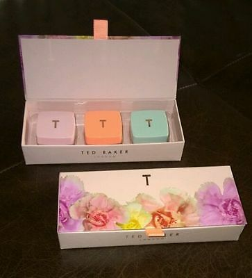 TED BAKER lip balm gift set NEW IN BOX xmas women's