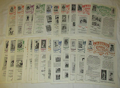 Job Lot Cigarette Card Monthly 26 Issues Number 2 - 49 April 1983 - July 1987