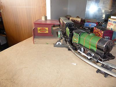 Hornby O Gauge Type 30 Locomotive,tender ,2 Carriages .key.track Station As Show