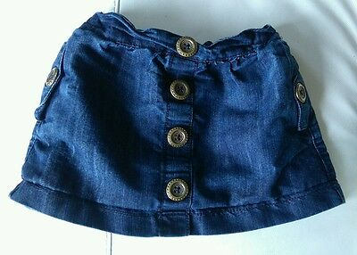 Girls next denim skirt age 2-3 years