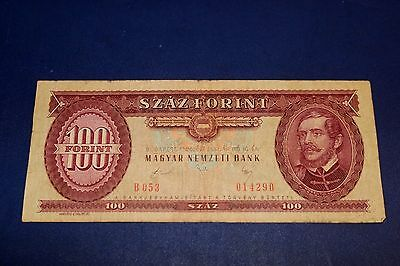 1980 Hungary 100 Forint Banknote SN#B 053 014290