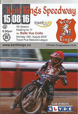 2016 KENT KINGS v BELLE VUE COLTS 15th AUGUST SELL OUT ( EXCELLENT CONDITION )