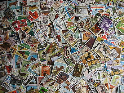 HORSES Topical collection 350 different (+3 SS) Mixed condition