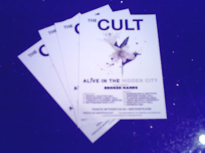 "THE CULT - ""ALIVE IN THE HIDDEN CITY"" UK TOUR 2016 (4 x PROMO CARDS)"