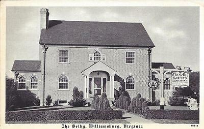 VA - THE SELBY Guest House Vintage Black & White Postcard, Williamsburg