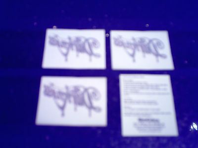 THE DARKNESS - HOT CAKES (4 x PROMO TEMPORARY TATTOOS)