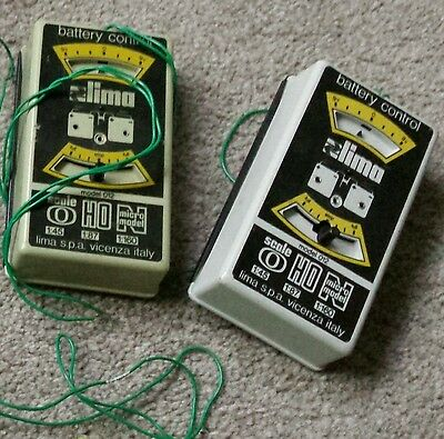 Vintage Lima model railway battery controllers x2