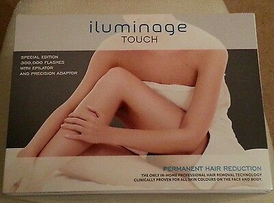 iluminage TOUCH elos Permanent Hair Removal / Reduction System - SEALED
