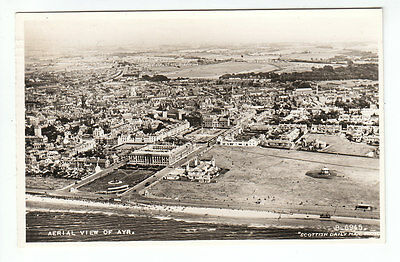 Aerial View Of Ayr 1952 Real Photograph Harvey Mosspeeble Ewes Langholm Scottish