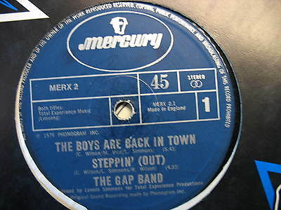 """The Gap Band-The Boys Are Back In Town. Original Disco/soul/funk 12"""" Single"""