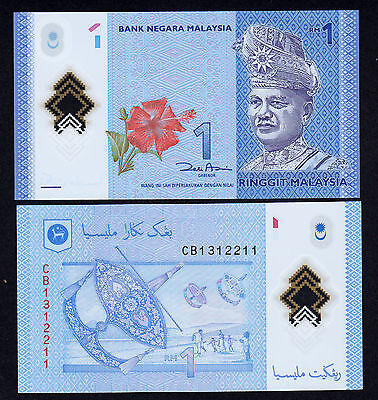 Malaysia  1 Ringgit ND 2012 - 2014  aUNC Polymer Note