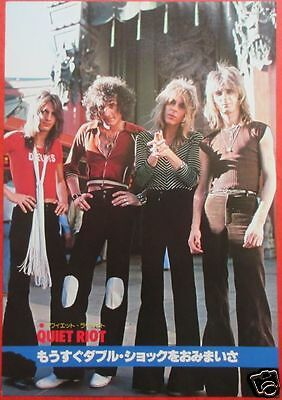 Quiet Riot Randy Rhoads Kevin Dubrow 1978 Clipping Japan Magazine Ml 7A