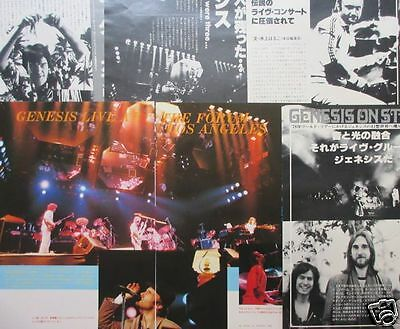 Genesis Live At Forum Phil Collins Peter Gabriel 1978 Clipping Japan Ml 7A 7Page