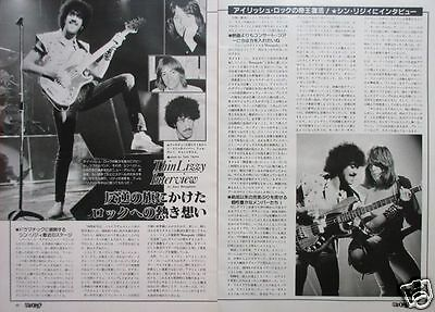 Thin Lizzy Phil Lynott 1982 Clipping Japan Magazine Rf 4A 2Page