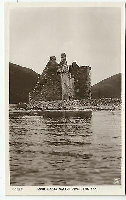 POSTCARD-SCOTLAND-ARRAN-RP. Loch Ranza Castle from The Sea.