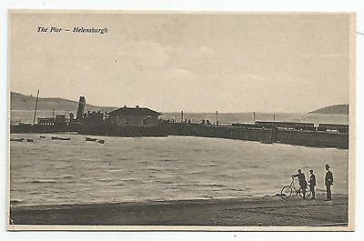 POSTCARD-SCOTLAND-HELENSBURGH-PTD. PS Lucy Ashton at The Pier.